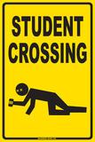 Achtung – Studenten überqueren die Straße Blechschild