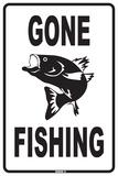 Sortie de pêche Plaque en métal