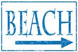 Beach Tin Sign