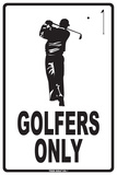 Golfers Only Carteles metálicos
