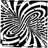 Mobius Strip Edge Maze Maze Optical Illusion Posters par Yonatan Frimer