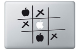 Tick-Tack-Toe for Mac Laptopstickers