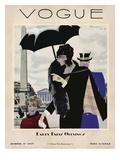 Vogue Cover - October 1927 Gicléedruk van Pierre Mourgue