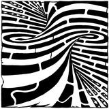 Super Tornado Spiral Close Up Maze Poster par Yonatan Frimer