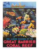 Great Barrier Coral Reef c.1933 Reproduction procédé giclée par Frederick Phillips
