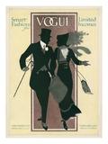Vogue Cover - February 1912 Gicléedruk