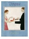 Vogue Cover - December 1923 Gicléedruk van André E. Marty