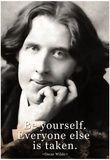 Oscar Wilde Be Yourself Quote Poster Poster