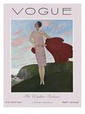Vogue Cover - July 1927 Gicléedruk van Pierre Brissaud