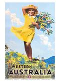 Western Australia, Flower Girl c.1936 ポスター : パーシー・トロンプフ
