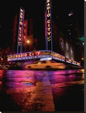 Radio City Stretched Canvas Print by Michel Setboun