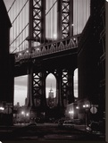 Manhattan Skyline From Dumbo Stretched Canvas Print by Michel Setboun
