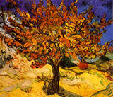 The Mulberry Tree, c. 1889 Bilder av Vincent van Gogh