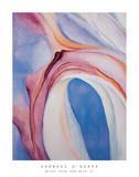 Musik Pink und Blau Poster von Georgia O'Keeffe