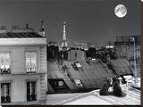La Tour Eiffel De La Rue St Eleuthère Opspændt lærredstryk af Antoine Carrara