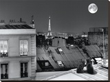 La Tour Eiffel De La Rue St Eleuthère Reproducción de lámina sobre lienzo por Antoine Carrara