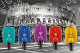 Vespas-Colosseum Affiche
