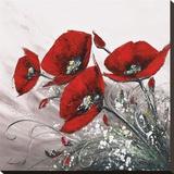 Bouquet De Coquelicots II Kunst op gespannen canvas van Olivier Tramoni