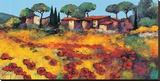 Rouge Et Or Toile tendue sur châssis par Roger Keiflin