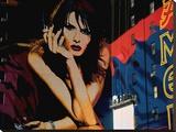 Une Publicité, Times Square Trykk på strukket lerret av Michel Setboun