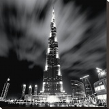 Burj Khalifa, Dubai Stretched Canvas Print by Marcin Stawiarz