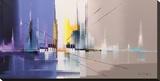 Langs De Vaart Kunst op gespannen canvas van Luc Drappier