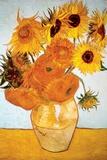 Doce girasoles Pósters por Vincent van Gogh