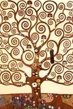 Livets träd, detalj av Stoclet-frisen, ca 1909 Affischer av Gustav Klimt