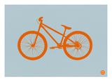 Orange Bicycle Láminas por  NaxArt
