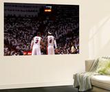 Miami, FL - June 17: Dwyane Wade and LeBron James Poster von Andrew Bernstein