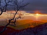 Sunset over the Blue Ridge Mountains Reproduction photographique par Amy & Al White & Petteway