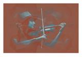 Violinist Brown Posters av  NaxArt