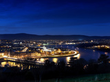 Derry City at Dusk in Northern Ireland Photographic Print by Chris Hill