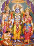 Picture of Hindu Gods Laksman, Rama, Sita and Hanuman, India, Asia Photographic Print by  Godong