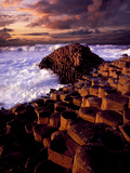 Giant's Causeway in Northern Ireland Fotografisk tryk af Chris Hill