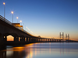 Second Severn Crossing Bridge, South East Wales, Wales, United Kingdom, Europe Photographic Print by Billy Stock