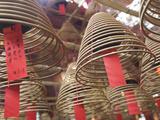 Incense Coils Hang from the Roof of the Man Mo Temple, Built in 1847, Sheung Wan, Hong Kong, China, Photographic Print by Amanda Hall