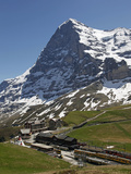 Kleine Scheidegg and Eiger Near Grindelwald, Bernese Oberland, Swiss Alps, Switzerland, Europe Photographic Print by Hans Peter Merten