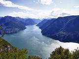 Lake of Lugano, Lugano, Canton Tessin, Switzerland, Europe Impressão fotográfica por Angelo Cavalli