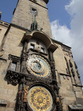 Astronomical Clock, Old Town Hall, Prague, Czech Republic, Europe Impressão fotográfica por Hans Peter Merten