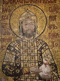 Mosaic of Emperor Ioannes I Comnenos Holding a Purse, Symbolizing Donation He Made to the Church, H Photographic Print by  Godong