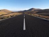 Road Near La Pared, Fuerteventura, Canary Islands, Spain, Europe Impressão fotográfica por Hans Peter Merten