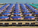 Beach at Cattolica, Adriatic Coast, Emilia-Romagna, Italy, Europe Impressão fotográfica por Hans Peter Merten