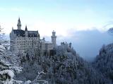 Neuschwanstein Castle in Winter, Schwangau, Allgau, Bavaria, Germany, Europe Photographic Print by Hans Peter Merten