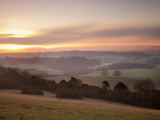 Newlands Corner View at Dawn, Near Guilford, Surrey Hills, North Downs, Surrey, England, United Kin Photographic Print by John Miller