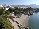 View from Balcon De Europa of Nerja, Andalusia, Spain, Europe Impressão fotográfica por Hans Peter Merten