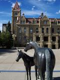 Sculpture at Calgary City Hall, Calgary, Alberta, Canada, North America Impressão fotográfica por Hans Peter Merten