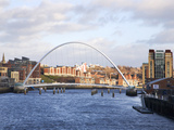 Millennium Bridge and the Baltic from the Swing Bridge, Newcastle Upon Tyne, Tyne and Wear, England Photographic Print by Mark Sunderland