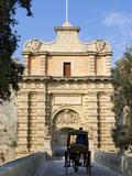 Mdina Gate with Horse Drawn Carriage, Mdina, Malta, Mediterranean, Europe Photographic Print by Stuart Black