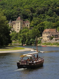 Caberre Boat on the River Dordogne, La Roque-Gageac, Dordogne, France, Europe Photographic Print by Peter Richardson